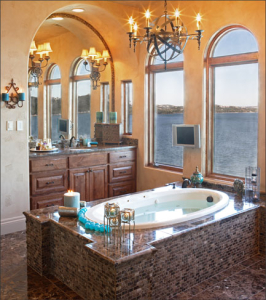 bathroom remodeling tub with tiled enclosure