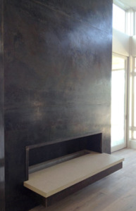 custom design build fireplace by Sendero Homes