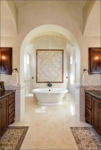 tub centerpiece of master bath