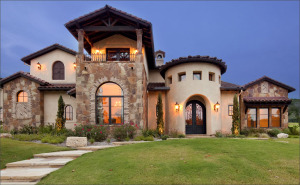 front of big view Tuscan