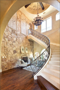 elegant curved staircase at bigview
