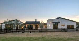 modern ranchhome rambler front view