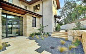 Hill Country Contemporary courtyard