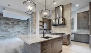 Hill Country Contemporary kitchen island
