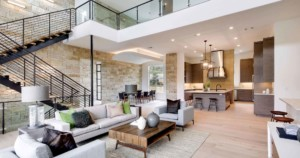 Hill Country Contemporary living room