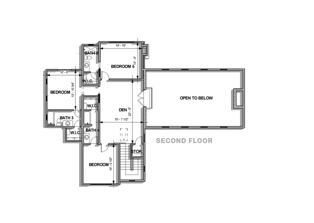 Texas Tuscan Traditional floor plan