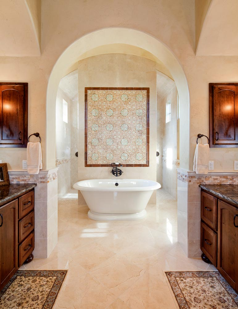 custom Tuscan bathroom