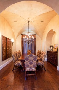 custom Tuscan dining room