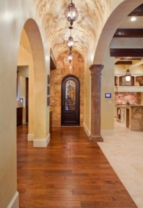 custom Tuscan hallway