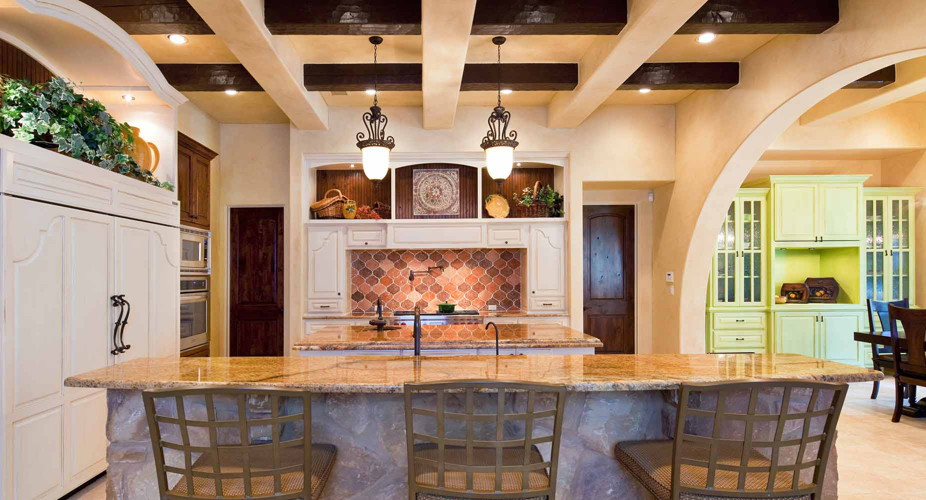 custom Tuscan kitchen