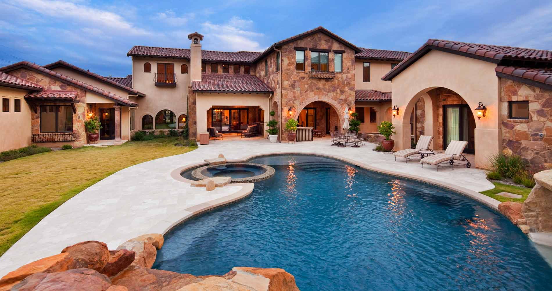 custom Tuscan pool