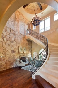 custom tuscan staircase