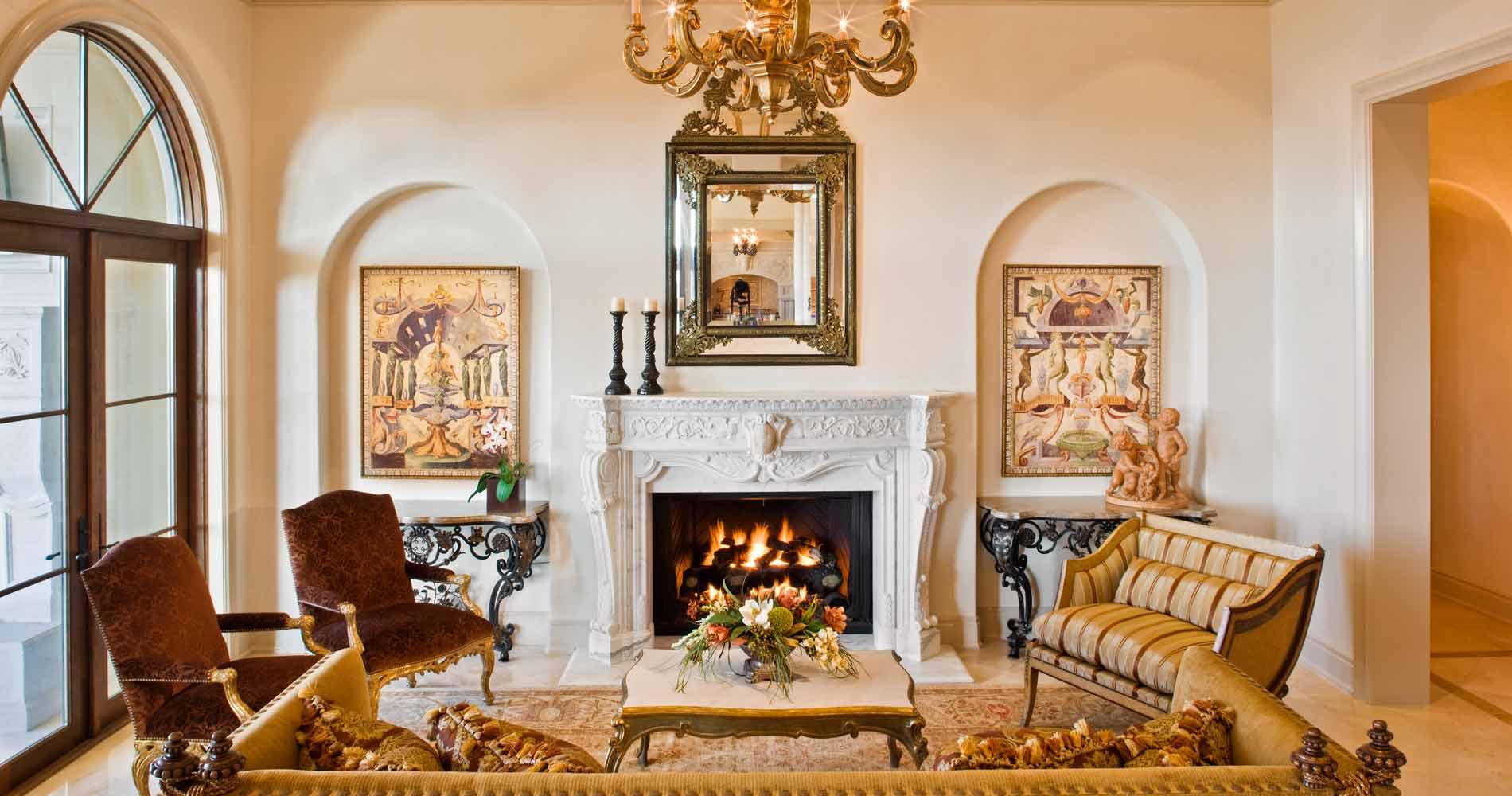 Italian Villa living room