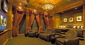 Italian Villa media room