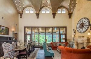Lakeside Mediterranean style living room