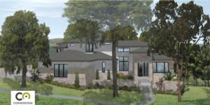modern multistory front elevation