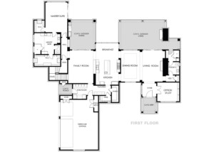 modern multistory floor plan