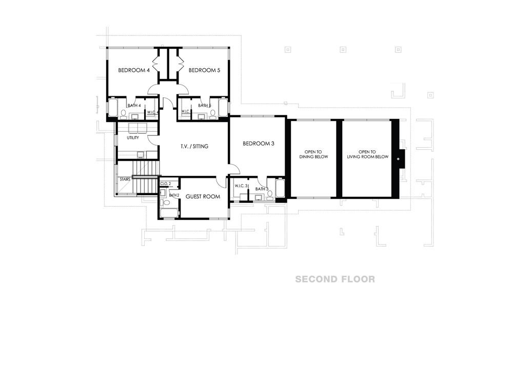 modern multistory floor plan