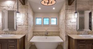 Texas farmhouse transitional bath