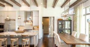 Texas farmhouse transitional dining room