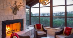 Texas farmhouse transitional porch