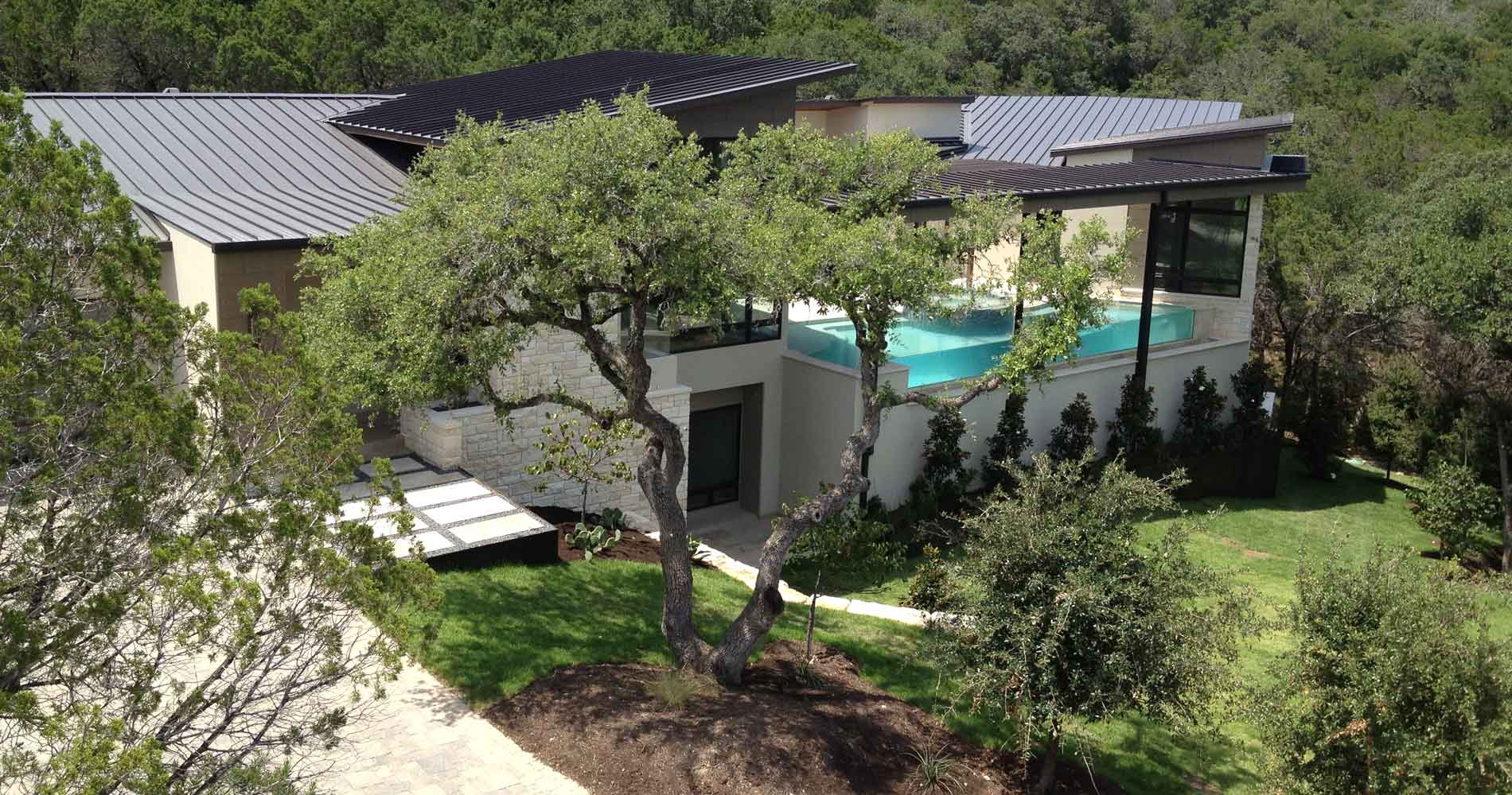 Westlake Contemporary rooflines