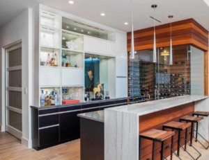 Westlake Contemporary wine room