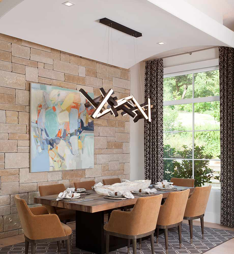 Hill Country Contemporary dining room