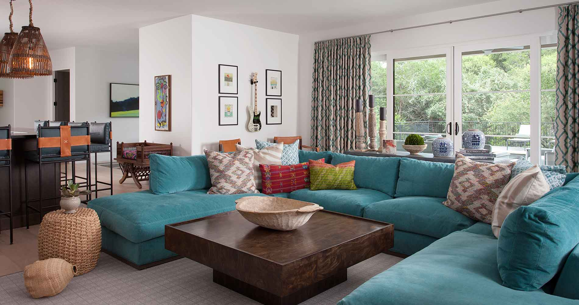 Hill Country Contemporary media room