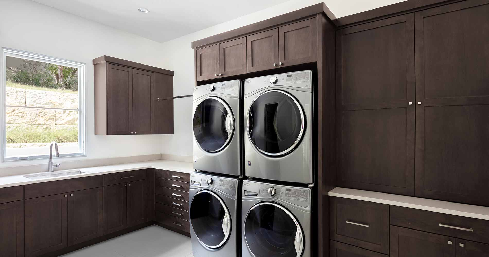 modern Texas transitional laundry