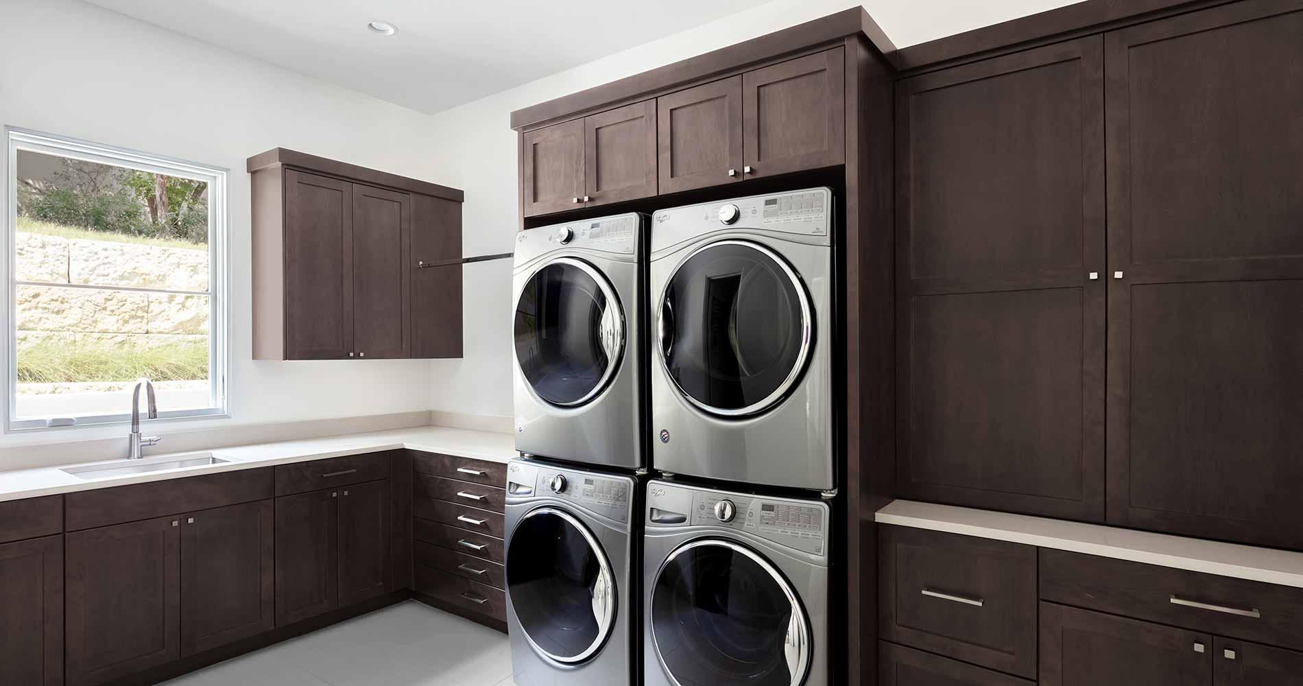 modern Texas transitional laundry