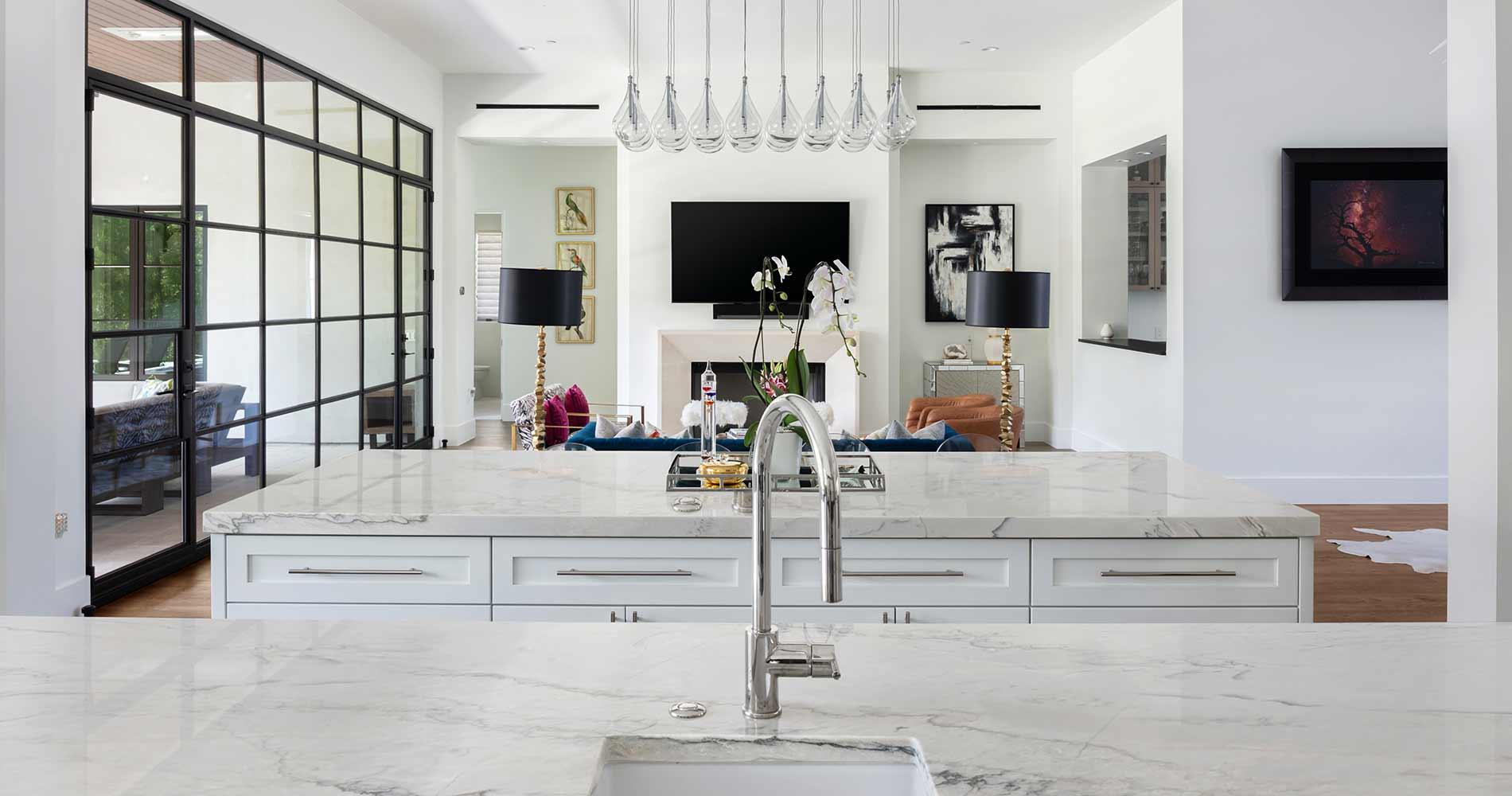 modern Texas transitional living room