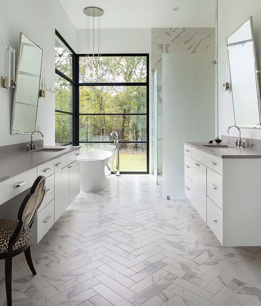 modern Texas transitional master bath