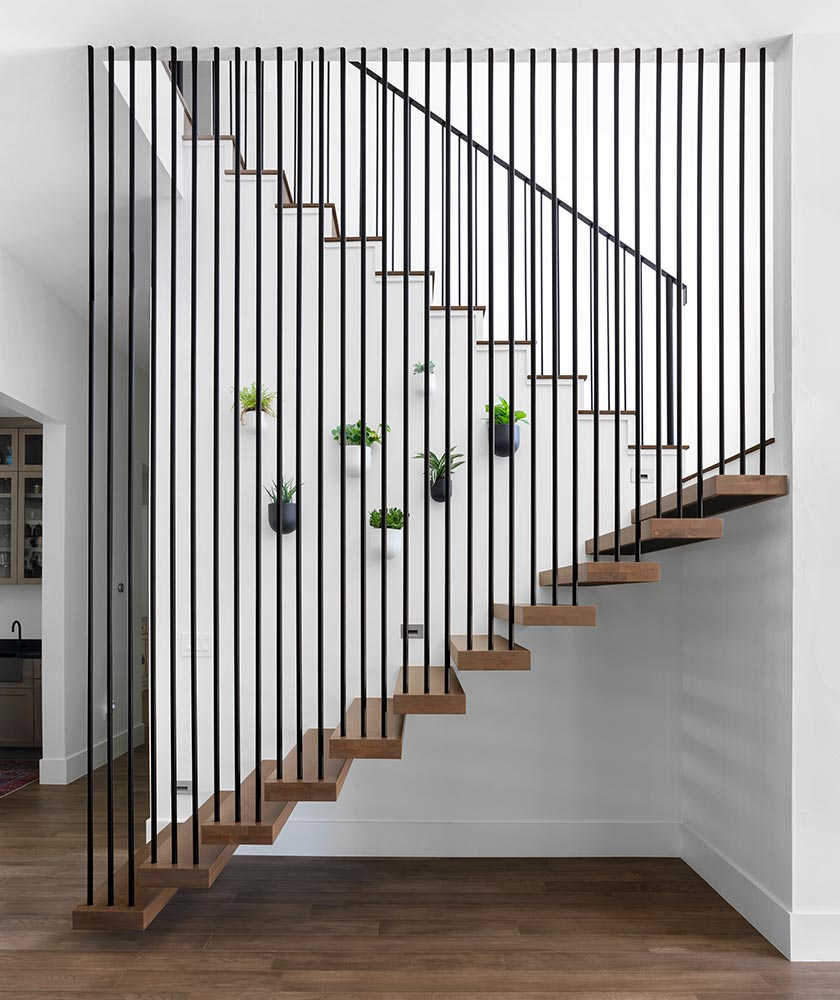 modern Texas transitional stairway